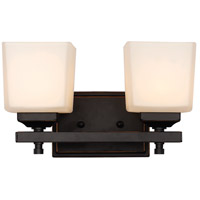Santa Clara 2 Light 13 inch Rubbed Oil Bronze Wall Sconce Wall Light