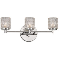 Trans Globe Lighting 20493-PC Bayou 3 Light 21 inch Polished Chrome Vanity Bar Wall Light