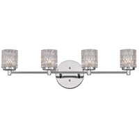 Trans Globe Lighting 20494-PC Bayou 4 Light 28 inch Polished Chrome Vanity Bar Wall Light