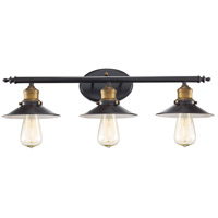 Griswald 3 Light 25 inch Rubbed Oil Bronze Vanity Bar Wall Light