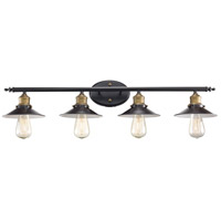 Griswald 4 Light 34 inch Rubbed Oil Bronze Vanity Bar Wall Light