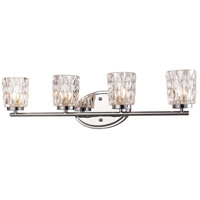 Brooks 4 Light 27 inch Polished Chrome Vanity Bar Wall Light