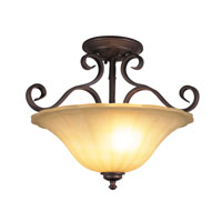 Trans Globe Lighting New Century 2 Light Semi-Flush Mount in Rubbed Oil Bronze 21053-ROB