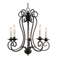 Trans Globe Lighting New Century 5 Light Chandelier in Rubbed Oil Bronze 21055-1-ROB