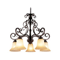 Trans Globe Lighting New Century 5 Light Chandelier in Rubbed Oil Bronze 21055-D-ROB