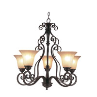 Trans Globe Lighting New Century 5 Light Chandelier in Rubbed Oil Bronze 21055-U-ROB
