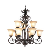 Trans Globe Garland 9 Light Chandelier in Rubbed Oil Bronze 21059-ROB
