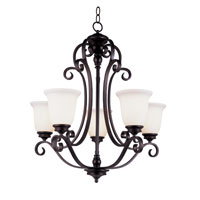 Trans Globe Lighting New Century 5 Light Chandelier in Rubbed Oil Bronze 21108-1-ROB
