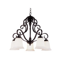 Trans Globe Lighting New Century 5 Light Chandelier in Rubbed Oil Bronze 21108-ROB