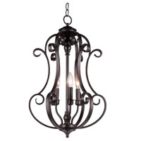 Trans Globe Lighting New Century 3 Light Chandelier in Rubbed Oil Bronze 21109-ROB
