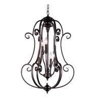 Trans Globe Lighting New Century 6 Light Chandelier in Rubbed Oil Bronze 21111-ROB