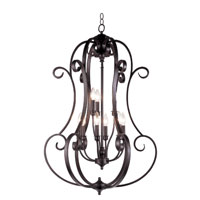 Trans Globe Lighting New Century 9 Light Chandelier in Rubbed Oil Bronze 21112-ROB