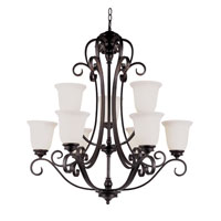 Trans Globe Garland 9 Light Chandelier in Rubbed Oil Bronze 21113-ROB
