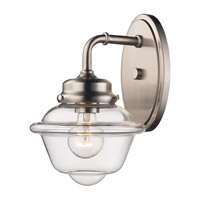 Brushed Nickel Glass Smith Wall Sconces