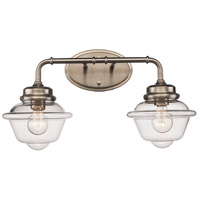 Trans Globe Lighting 21182-BN Smith 2 Light 21 inch Brushed Nickel Vanity Bar Wall Light