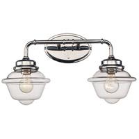 Trans Globe Lighting 21182-PC Smith 2 Light 21 inch Polished Chrome Vanity Bar Wall Light