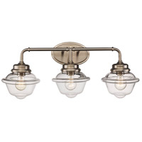 Trans Globe Lighting 21183-BN Smith 3 Light 27 inch Brushed Nickel Vanity Bar Wall Light