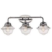Trans Globe Lighting 21183-PC Smith 3 Light 27 inch Polished Chrome Vanity Bar Wall Light