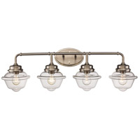 Trans Globe Lighting 21184-BN Smith 4 Light 35 inch Brushed Nickel Vanity Bar Wall Light