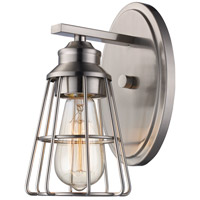 Trans Globe Lighting 21191-BN Solution 1 Light 5 inch Brushed Nickel Wall Sconce Wall Light