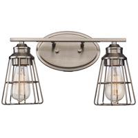 Trans Globe Lighting 21192-BN Solution 2 Light 16 inch Brushed Nickel Vanity Bar Wall Light