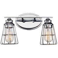 Trans Globe Lighting 21192-PC Solution 2 Light 16 inch Polished Chrome Vanity Bar Wall Light