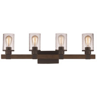 Trans Globe Lighting 21844-ROB Siesta 4 Light 32 inch Rubbed Oil Bronze Vanity Bar Wall Light