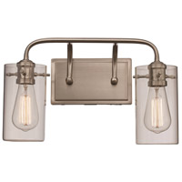 Trans Globe Lighting 21882-BN Townsend 2 Light 16 inch Brushed Nickel Vanity Bar Wall Light
