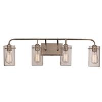 Trans Globe Lighting 21884-BN Townsend 4 Light 34 inch Brushed Nickel Vanity Bar Wall Light