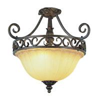 Trans Globe Lighting Sights Of Seville 2 Light Semi-Flush Mount in Dark Bronze W/ Gold 2282-DBG photo thumbnail