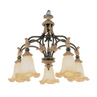 Trans Globe Lighting Impressions Of Rome 5 Light Chandelier in Ebony Gold 2335-EBG photo thumbnail