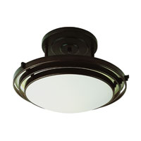 Step 1 Light 16 inch Rubbed Oil Bronze Semi-Flush Mount Ceiling Light
