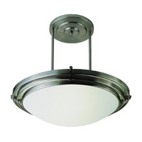 Trans Globe Step 1 Light Semi-Flush Mount in Brushed Nickel 2481-BN