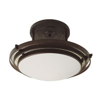 Step 1 Light 20 inch Rubbed Oil Bronze Semi-Flush Mount Ceiling Light in Wide Bowl Glass Shade