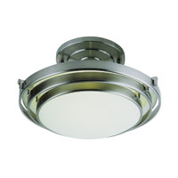 Step 1 Light 13 inch Brushed Nickel Semi-Flush Mount Ceiling Light