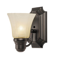 Argenta 1 Light 5 inch Rubbed Oil Bronze Wall Sconce Wall Light in Tea Stain