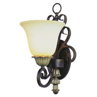 Trans Globe Lighting Sights Of Seville 1 Light Wall Sconce in Ebony Gold 2571-EBG