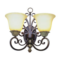 Trans Globe Lighting Sights Of Seville 2 Light Wall Sconce in Ebony Gold 2572-EBG