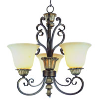Trans Globe Ebony 3 Light Chandelier in Ebony Gold 2573-EBG