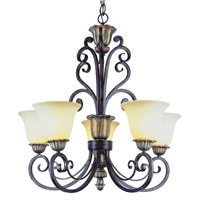 Trans Globe Lighting Sights Of Seville 5 Light Chandelier in Ebony Gold 2575-EBG