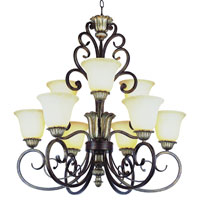 Trans Globe Lighting Sights Of Seville 9 Light Chandelier in Ebony Gold 2579-EBG