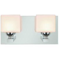 Signature 2 Light 11 inch Polished Chrome Vanity Light Wall Light