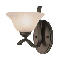 Trans Globe Lighting 2825-ROB Pine Arch 1 Light 10 inch Rubbed Oil Bronze Vanity Light Wall Light