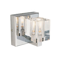 Metro 1 Light 5 inch Polished Chrome Wall Sconce Wall Light