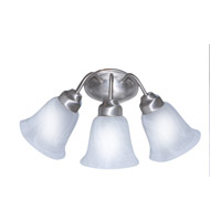 Trans Globe Lighting 3106-BN Signature 3 Light 20 inch Brushed Nickel Vanity Light Wall Light in Marbleized