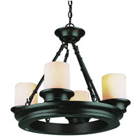 Trans Globe Hunters Lodge 4 Light Chandelier in Rubbed Oil Bronze 3364-ROB