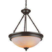 Hunters Lodge 3 Light 18 inch Rubbed Oil Bronze Pendant Ceiling Light
