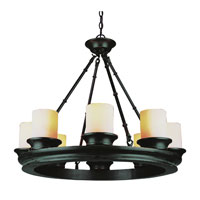 Trans Globe Hunters Lodge 8 Light Chandelier in Rubbed Oil Bronze 3368-ROB