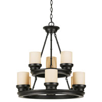 Hunters Lodge 9 Light 26 inch Rubbed Oil Bronze Chandelier Ceiling Light