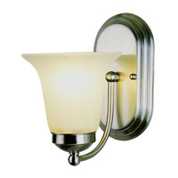 Trans Globe Lighting Signature 1 Light Wall Sconce in Brushed Nickel 3501-BN